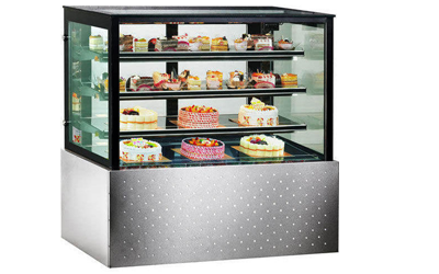 SS Body Straight Glass Display Counter